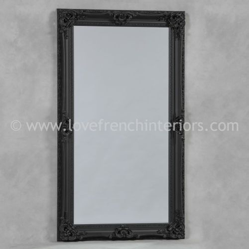 Black Large French Mirror